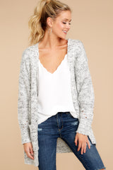7 Fit For Fall Heather Grey Cardigan at reddressboutique.com