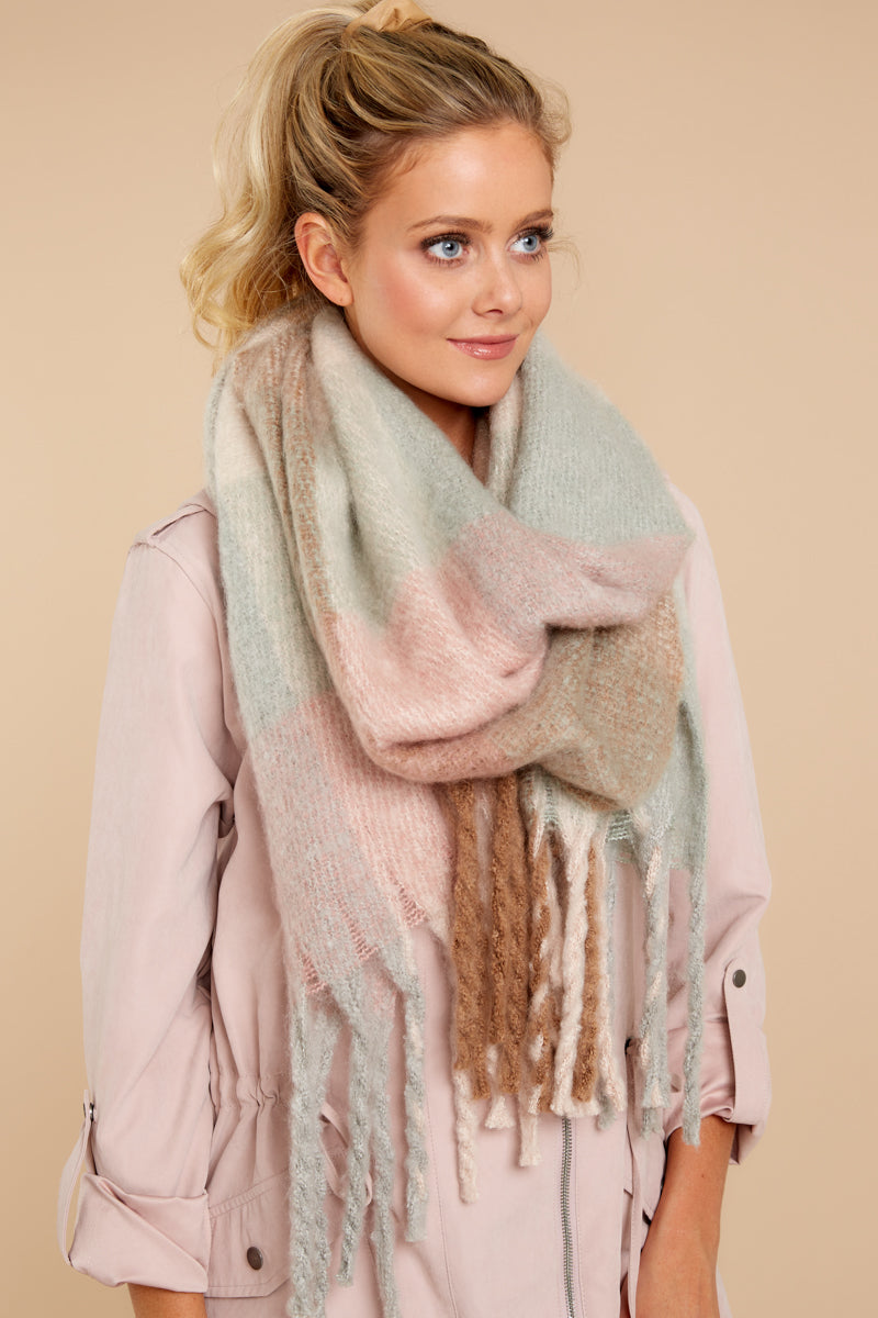 1 Wrapped In Warmth Beige Multi Scarf at reddressboutique.com