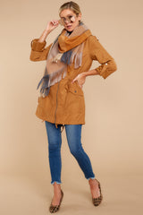 2 Off The Record Dark Camel Jacket at reddressboutique.com