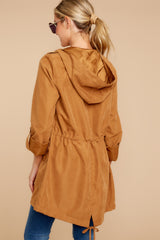 7 Off The Record Dark Camel Jacket at reddressboutique.com