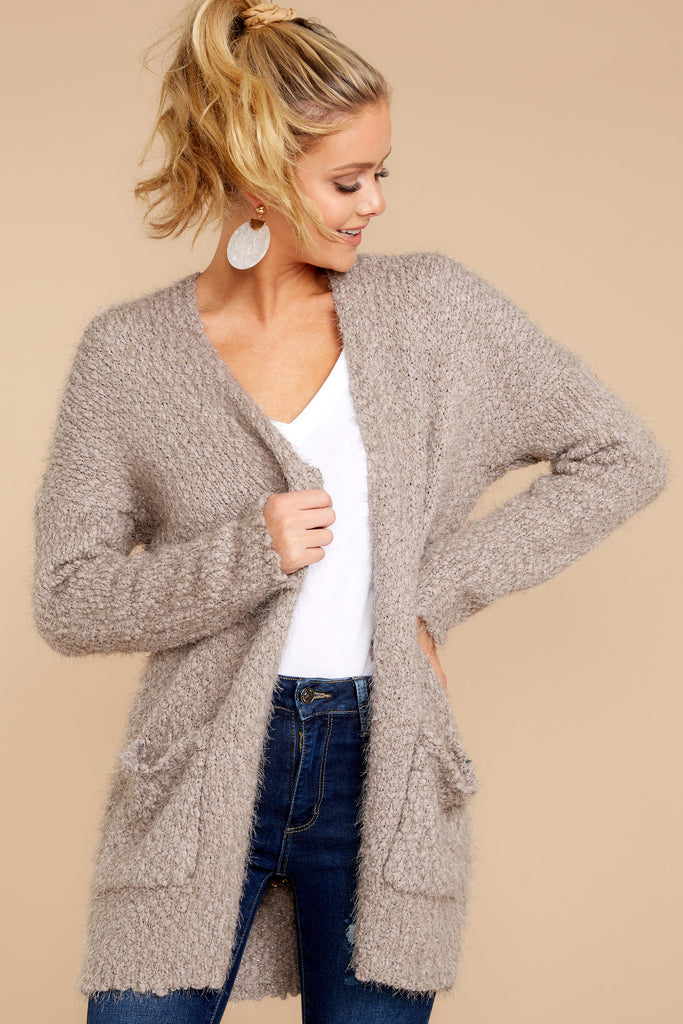 1 Fit For Fall Heather Grey Cardigan at reddressboutique.com