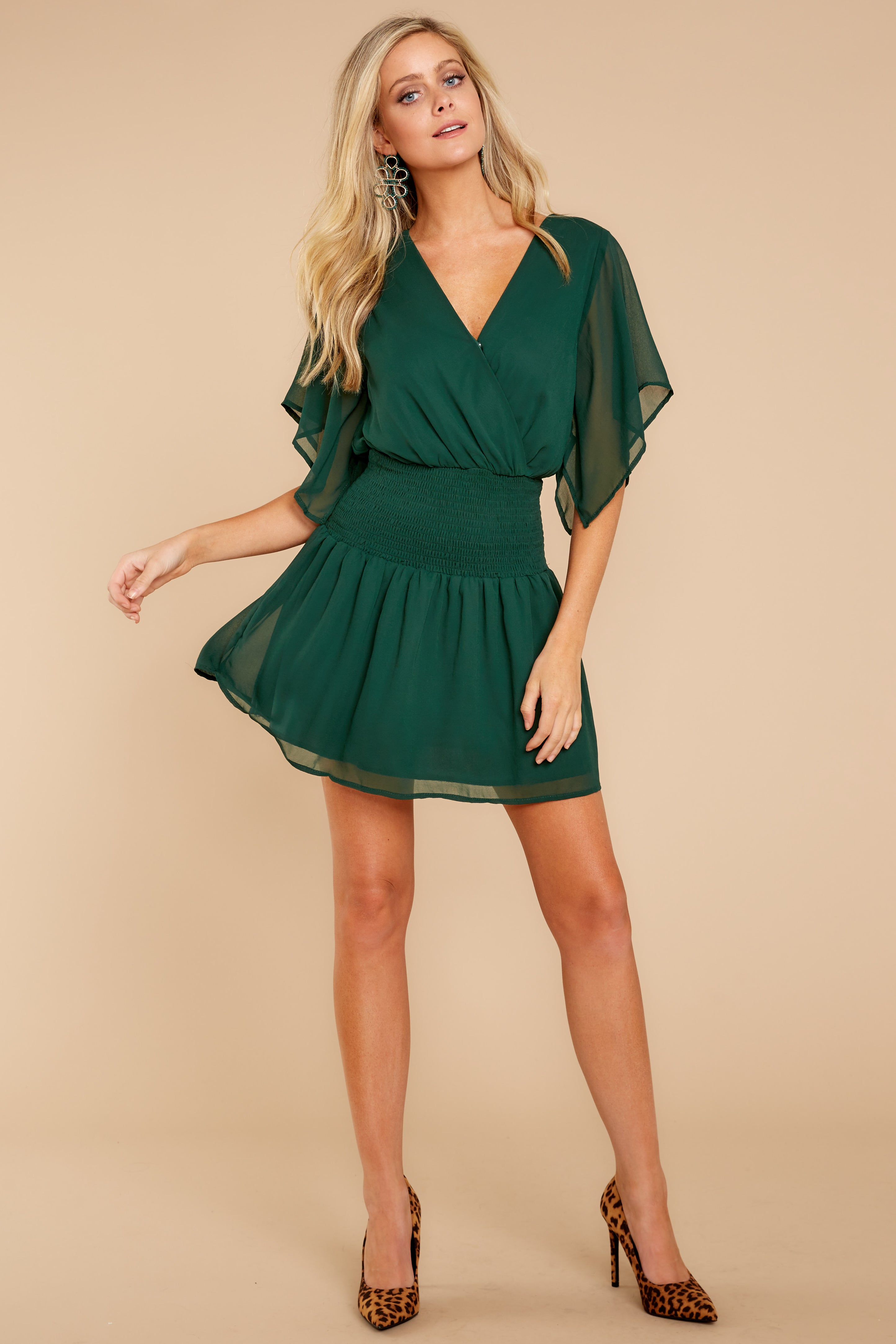 1 In A Twirl Hunter Green Dress at reddressboutique.com