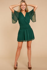 2 In A Twirl Hunter Green Dress at reddressboutique.com