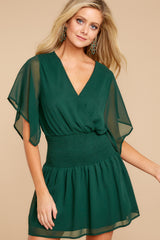 4 In A Twirl Hunter Green Dress at reddressboutique.com