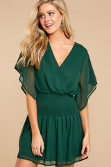 5 In A Twirl Hunter Green Dress at reddressboutique.com