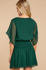 6 In A Twirl Hunter Green Dress at reddressboutique.com
