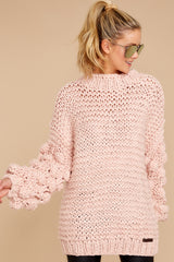 3 Always This Way Light Pink Sweater at reddressboutique.com