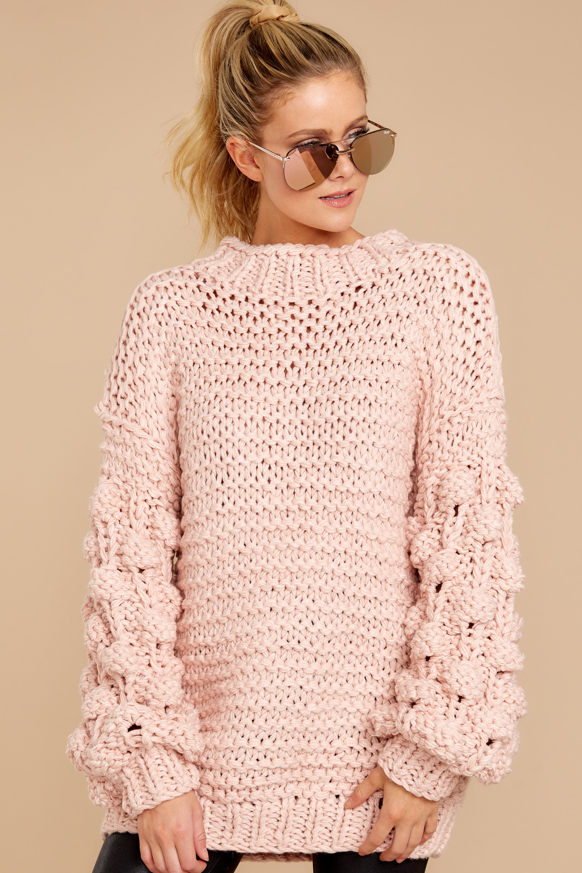 4 Always This Way Light Pink Sweater at reddressboutique.com