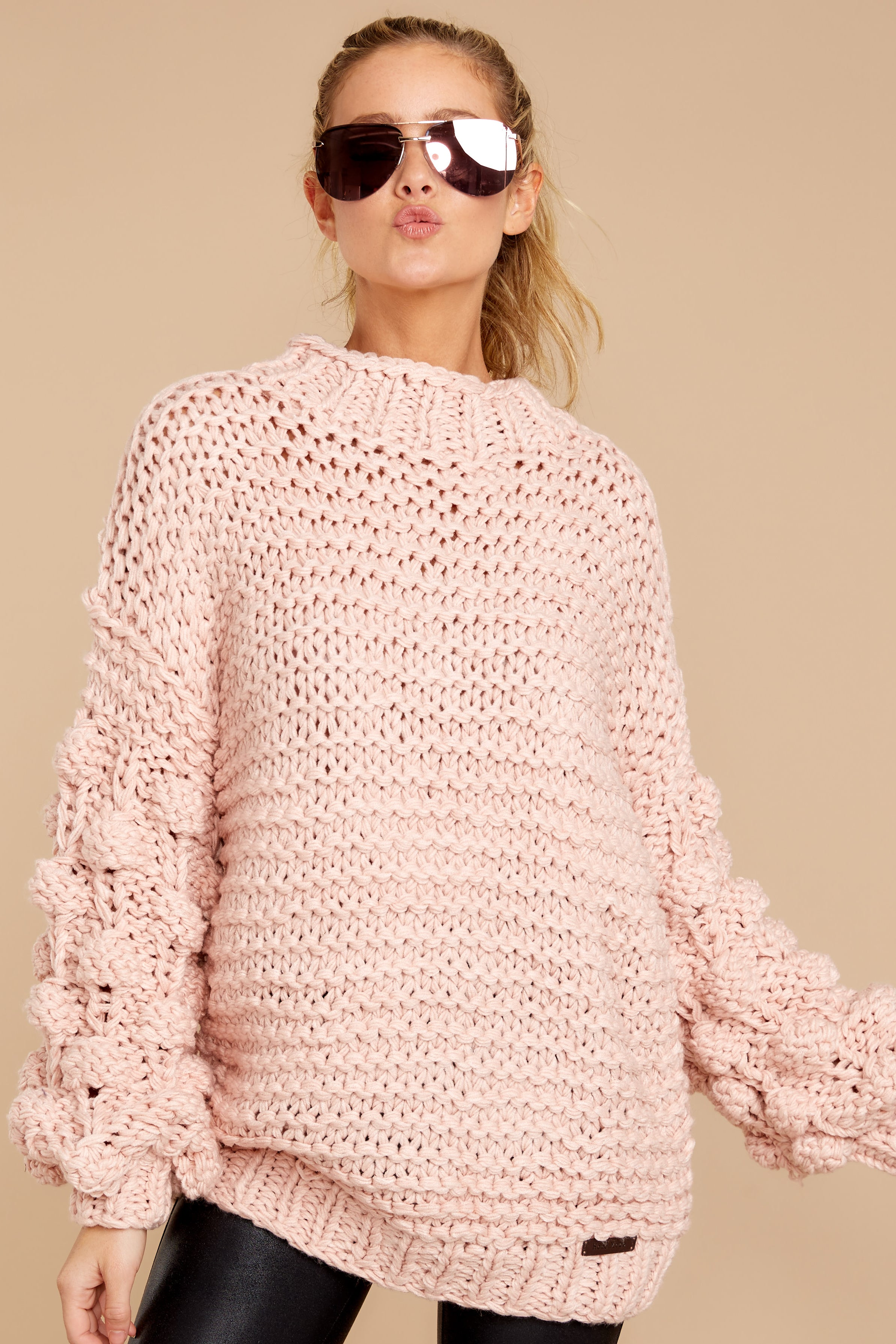 5 Always This Way Light Pink Sweater at reddressboutique.com