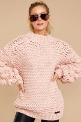 6 Always This Way Light Pink Sweater at reddressboutique.com