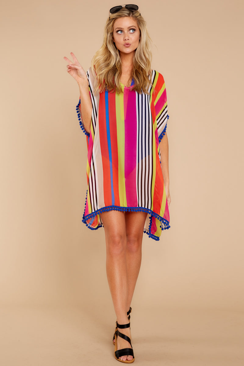 5614747dcf6 Adorable Rainbow Stripe Cover Up - Cover Up Dress - Swimwear ...