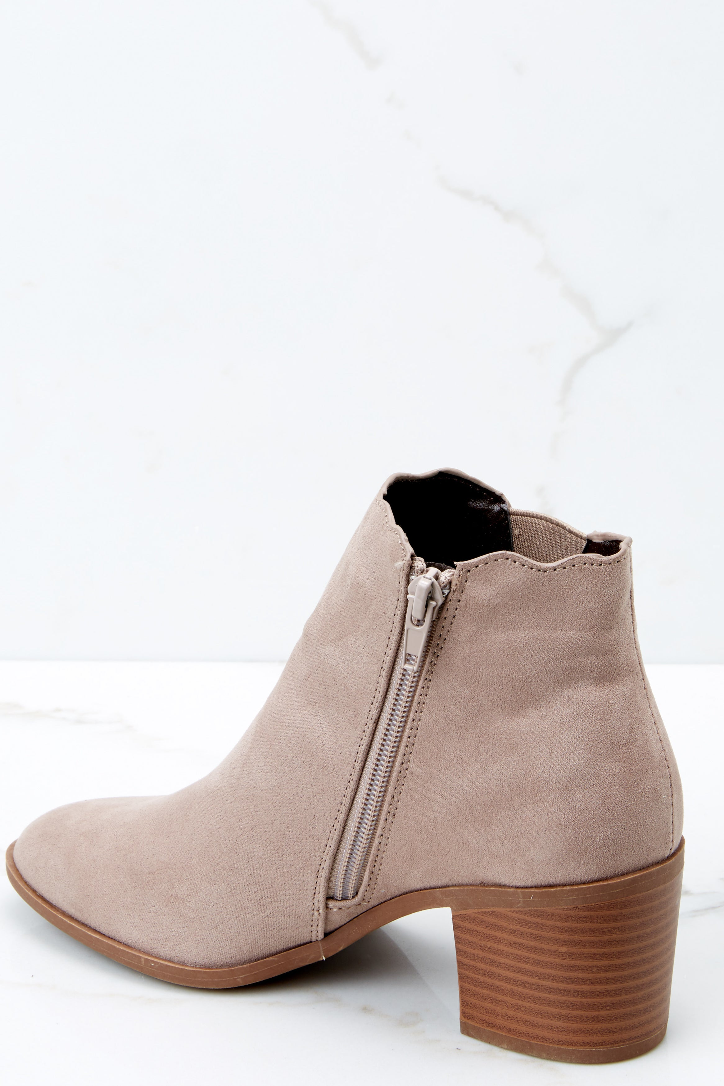 3 Running Into Fall Taupe Ankle Bootie at reddressboutique.com