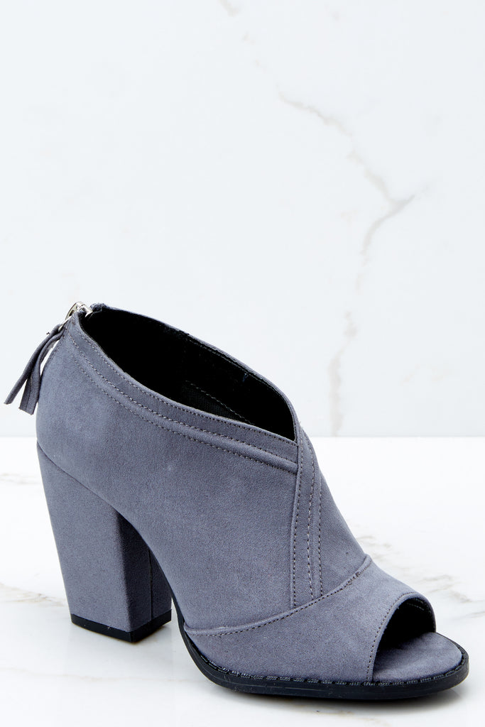 1 Step Out For The Night Grey High Heel Boots at reddressboutique.com