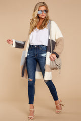 5 Cover The Basics Beige Multi Cardigan at reddressboutique.com