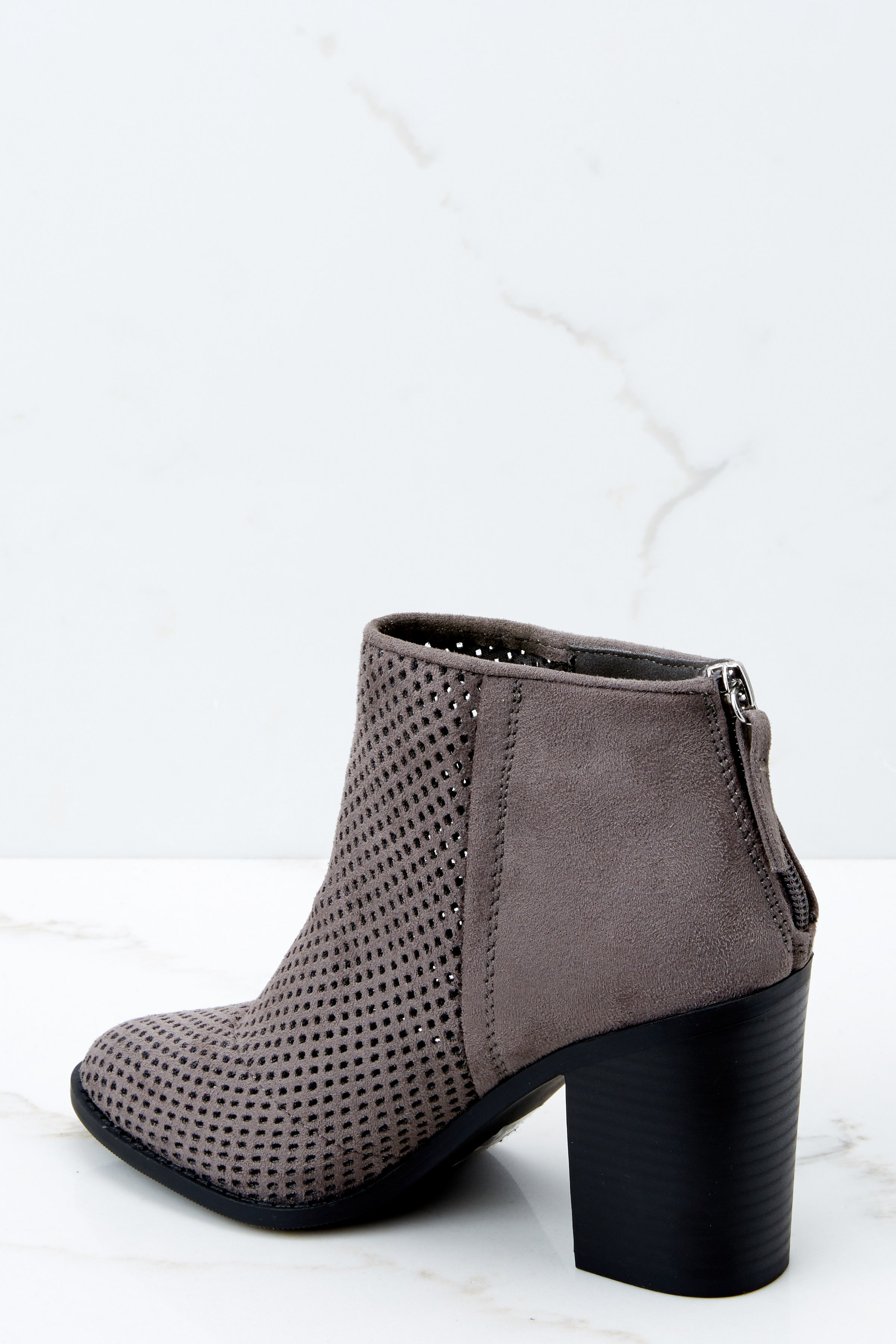 3 Meet You There Grey Ankle Booties at reddressboutique.com