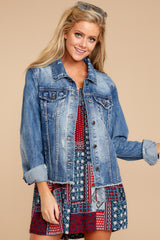 5 Marina Jacket In Medium Wash at reddressboutique.com