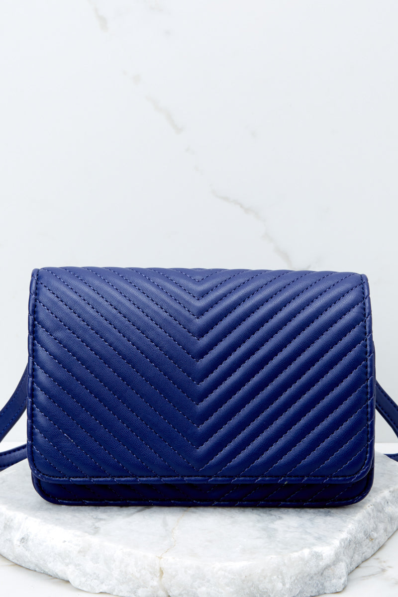 3 Totally Chic Navy Blue Purse at reddressboutique.com