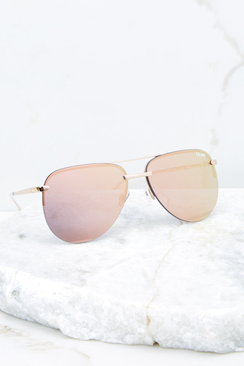 Playa Gold Pink Sunglasses