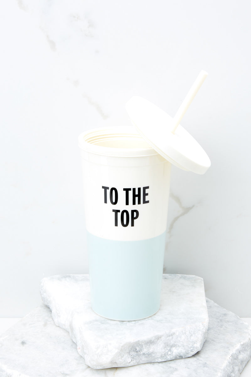 2 To The Top Blue Tumbler With Straw at reddress.com