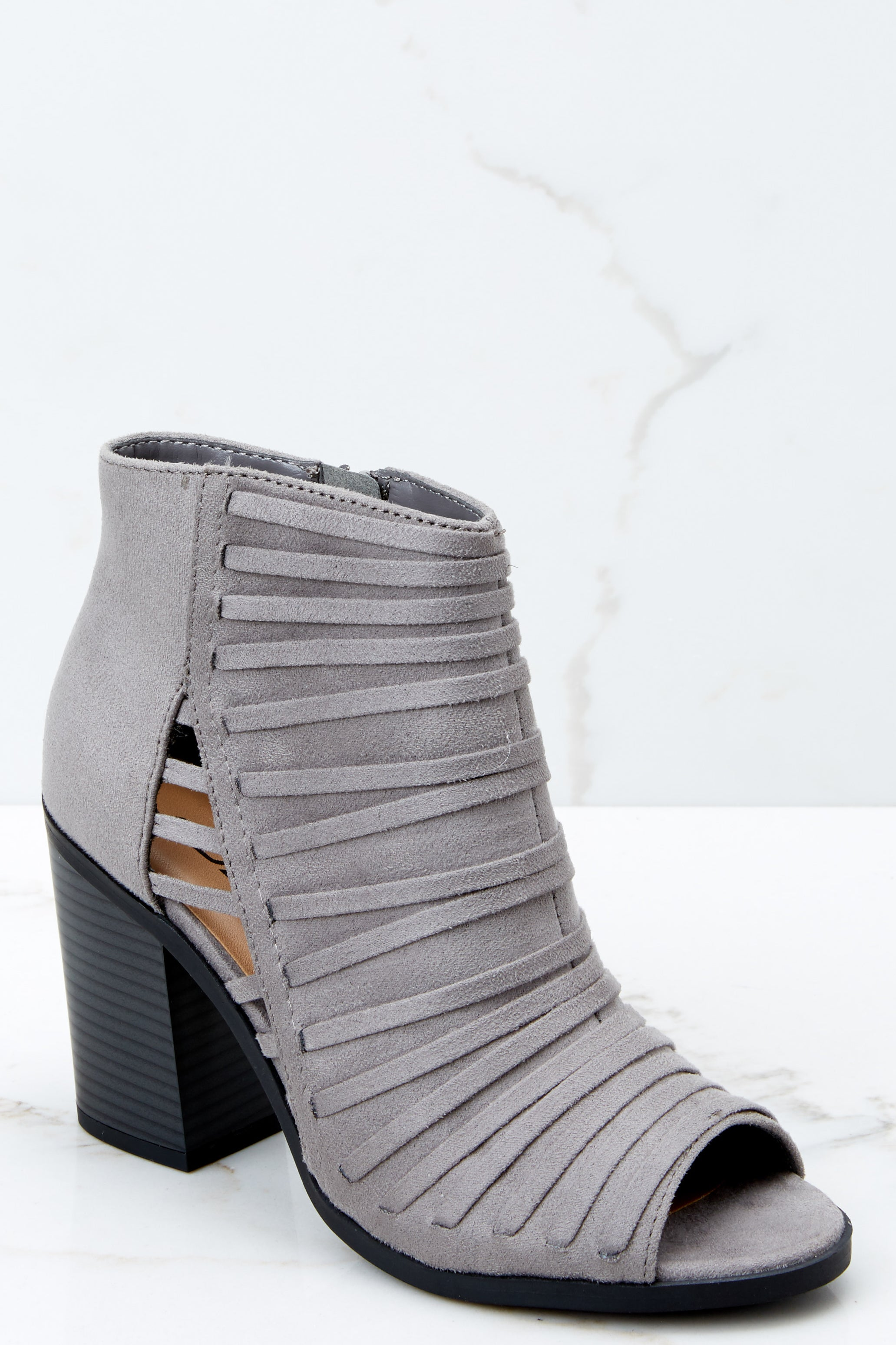 Pass It By Grey Ankle Booties