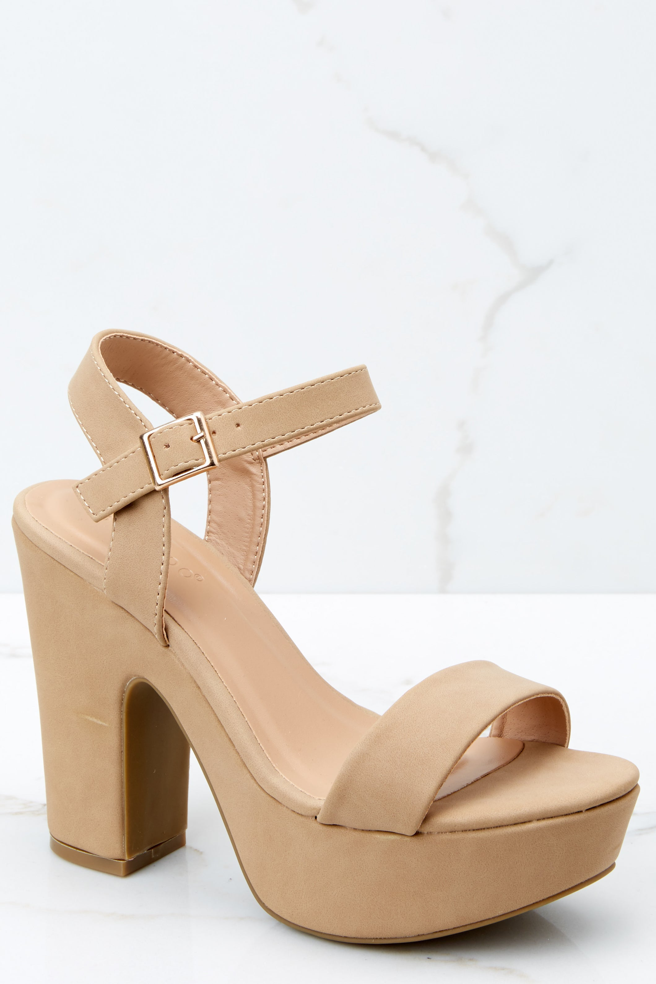 1 Accept The Challenge Nude Ankle Strap Heels at reddressboutique.com