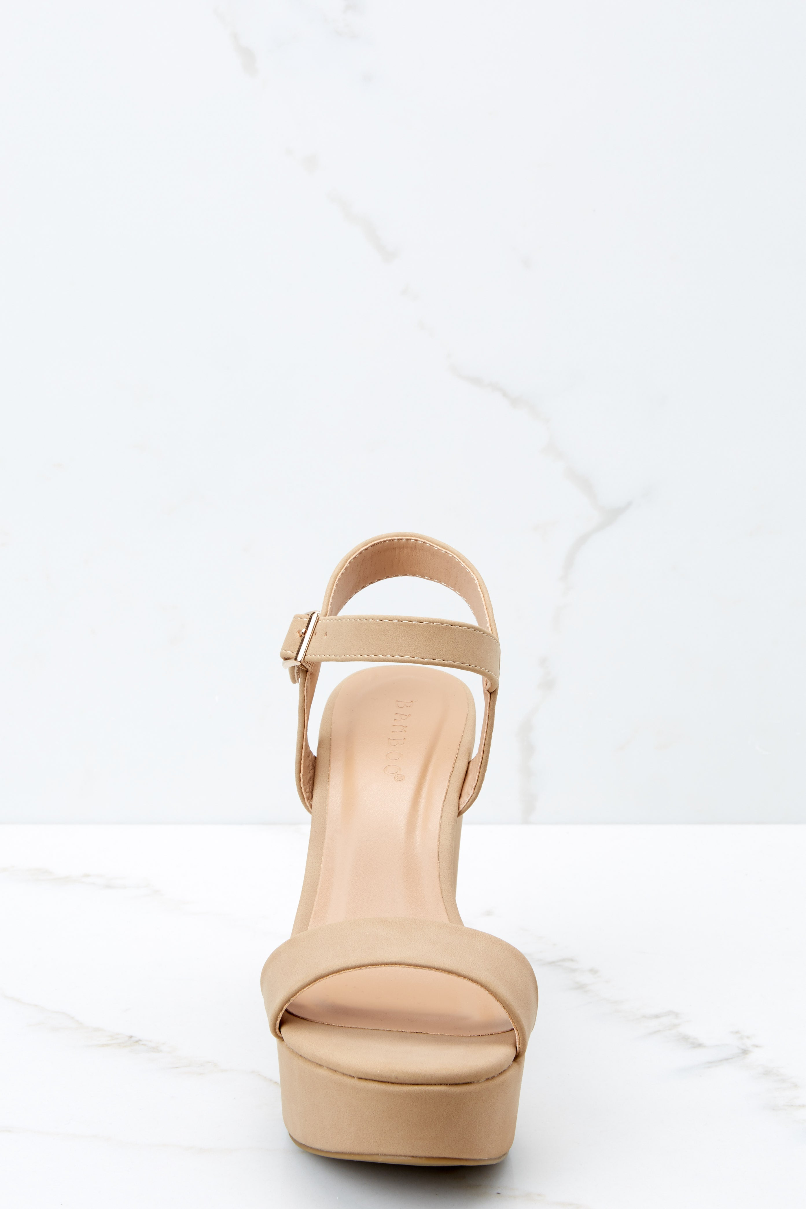 2 Accept The Challenge Nude Ankle Strap Heels at reddressboutique.com