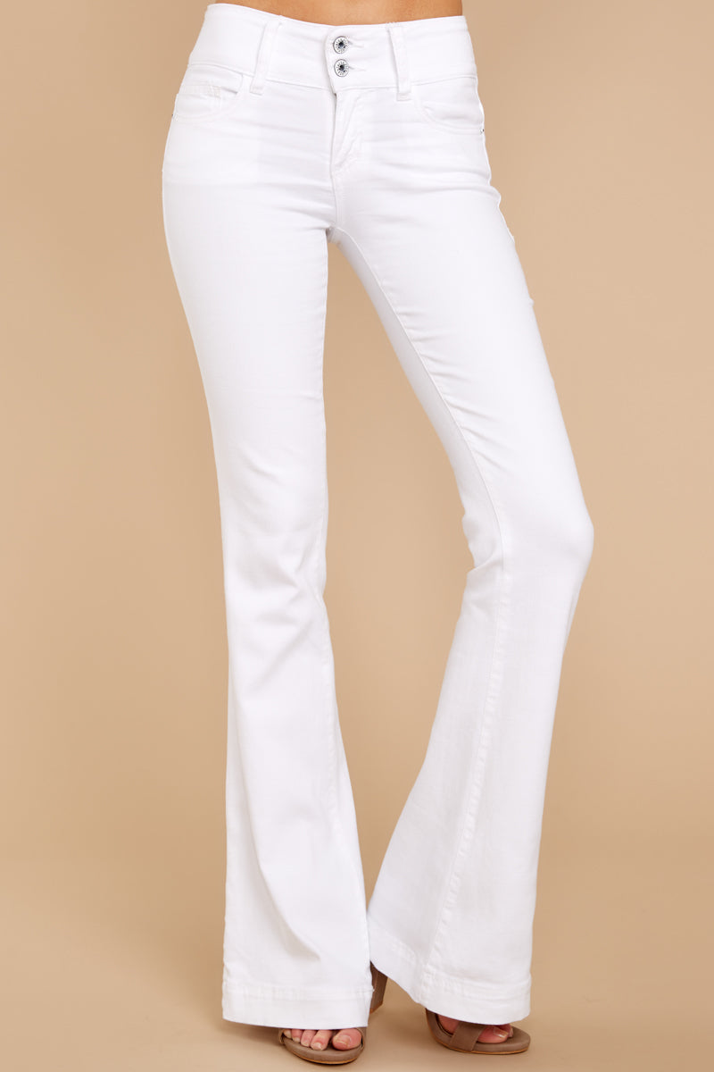 Always A Statement White Flare Jeans