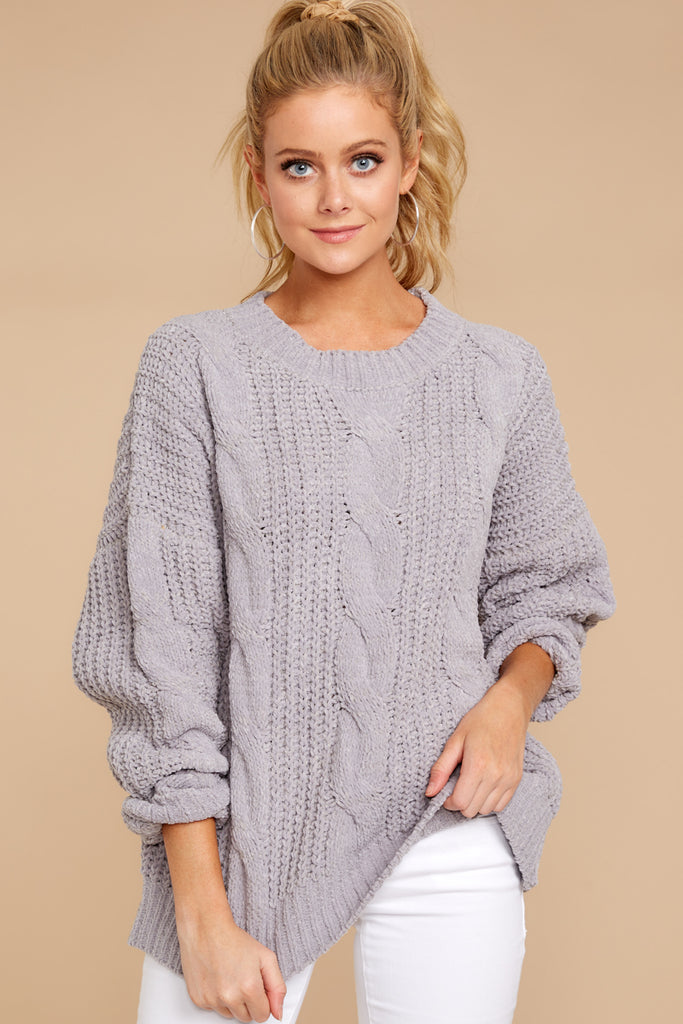 Sit With Me Grey Knit Cardigan