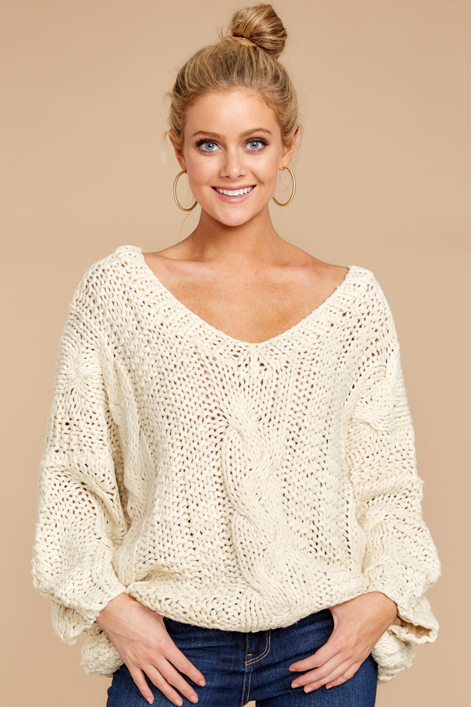 5 Time And Again Cream Top at reddressboutique.com
