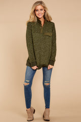 1 Looking For Comfort Olive Pullover at reddressboutique.com
