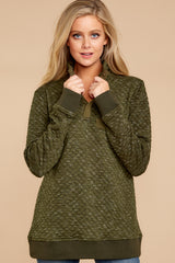 3 Looking For Comfort Olive Pullover at reddressboutique.com