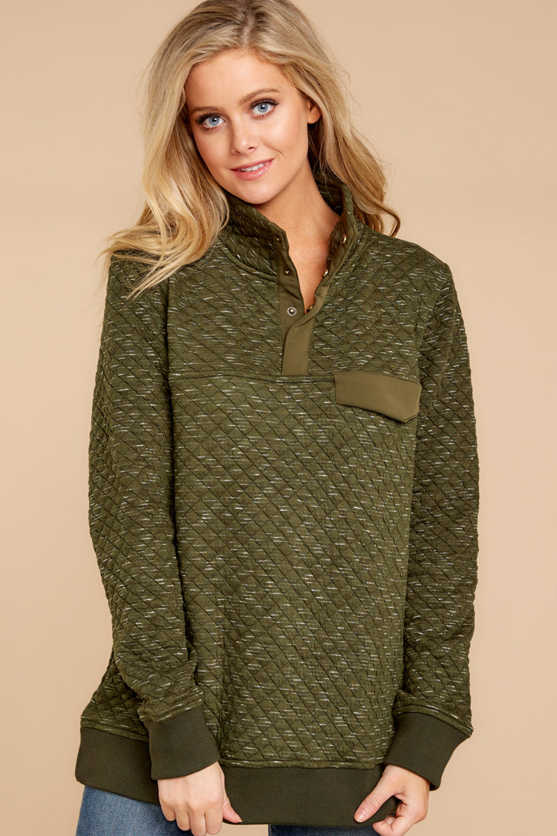 4 Looking For Comfort Olive Pullover at reddressboutique.com