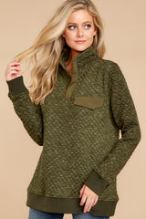 5 Looking For Comfort Olive Pullover at reddressboutique.com