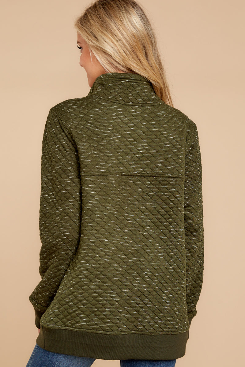 6 Looking For Comfort Olive Pullover at reddressboutique.com