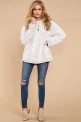 1 Lazy Sunday Pullover In Ivory at reddressboutique.com