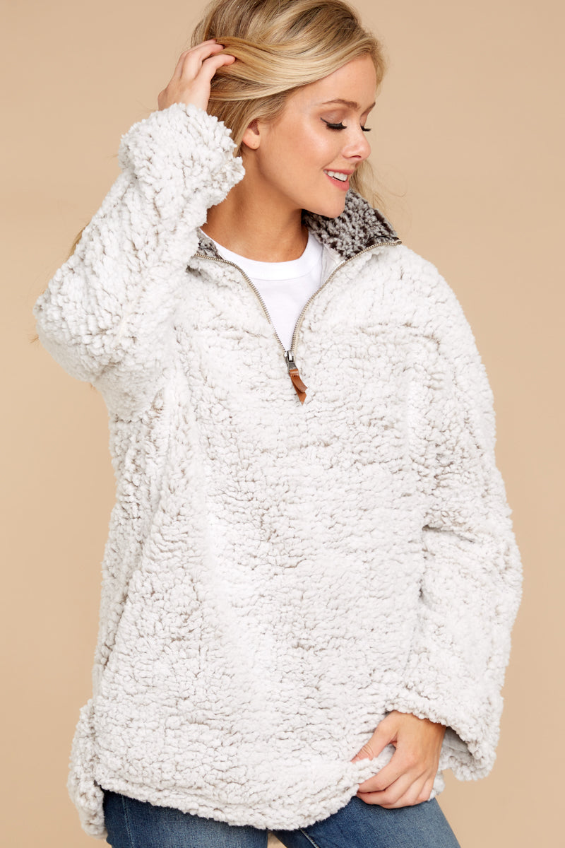 4 Lazy Sunday Pullover In Ivory at reddressboutique.com