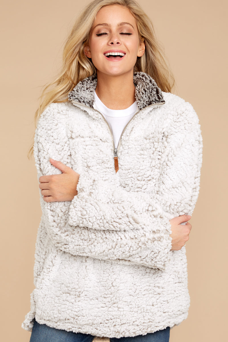 5 Lazy Sunday Pullover In Ivory at reddressboutique.com