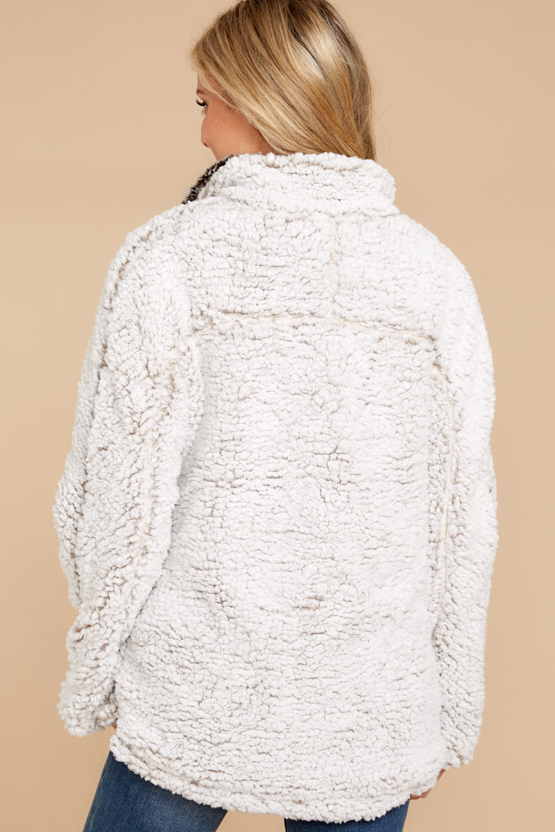 6 Lazy Sunday Pullover In Ivory at reddressboutique.com
