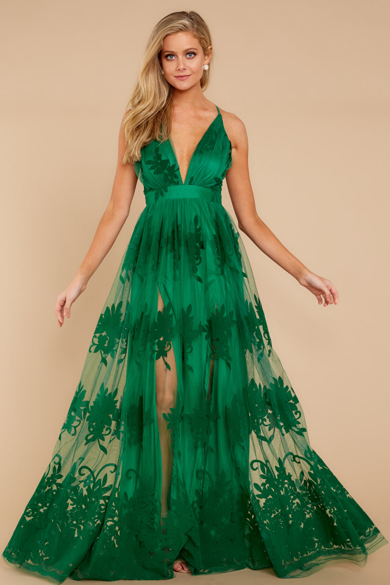 2 In Any Event Green Maxi Dress at reddressboutique.com