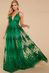3 In Any Event Green Maxi Dress at reddressboutique.com