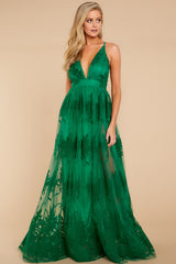 4 In Any Event Green Maxi Dress at reddressboutique.com
