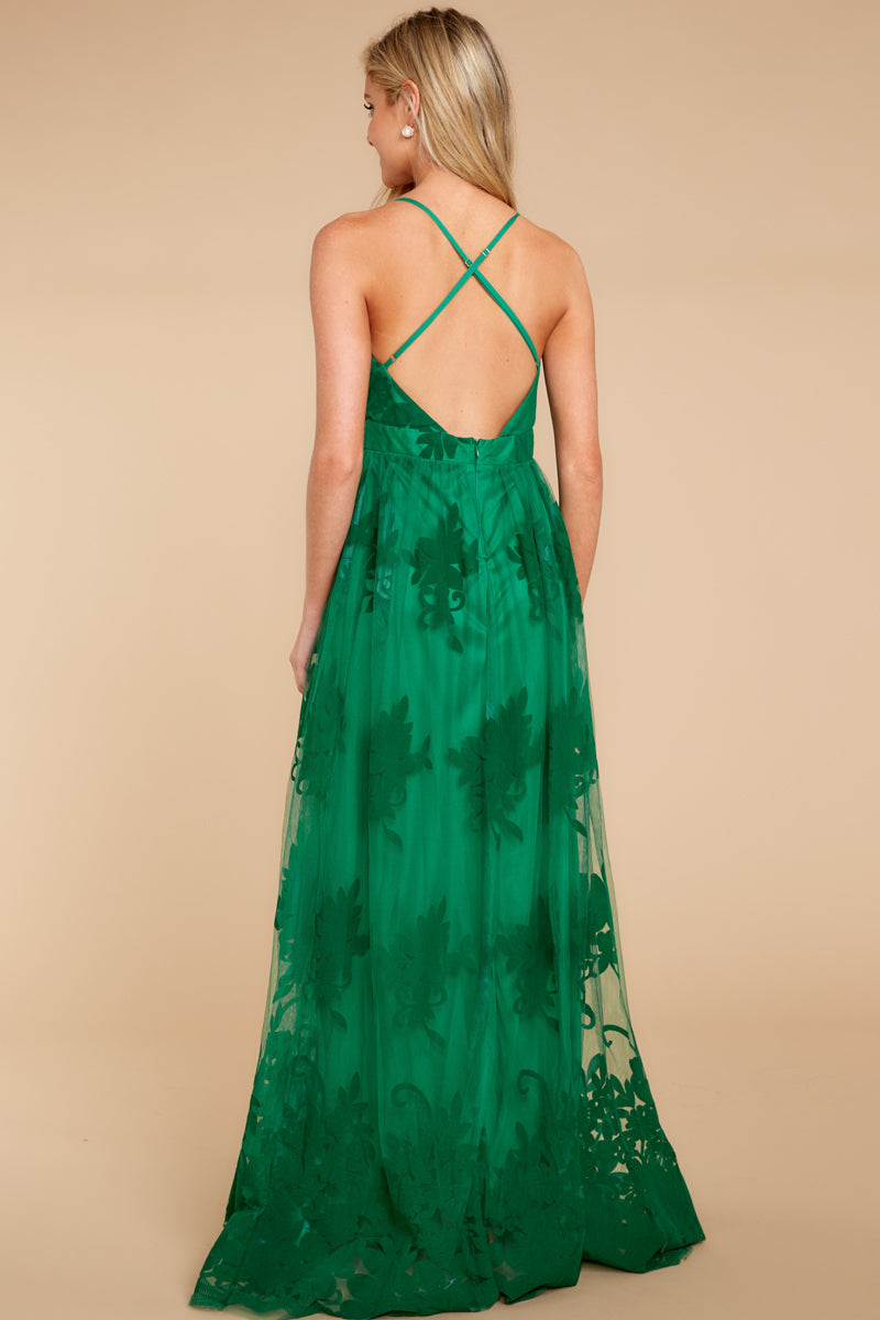 5 In Any Event Green Maxi Dress at reddressboutique.com