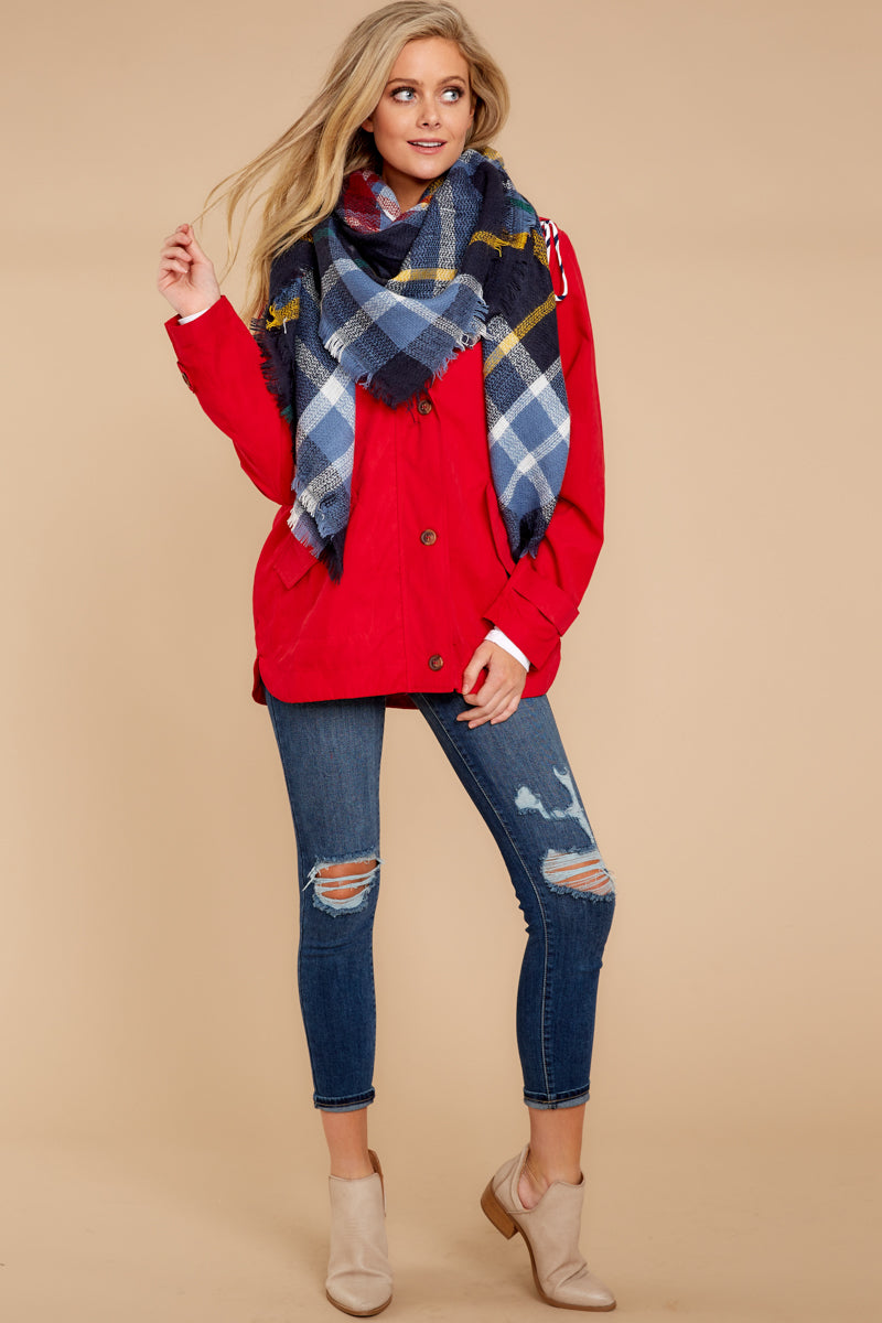2 Feeling Chilly Red Jacket at reddressboutique.com