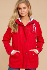 3 Feeling Chilly Red Jacket at reddressboutique.com