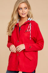 4 Feeling Chilly Red Jacket at reddressboutique.com