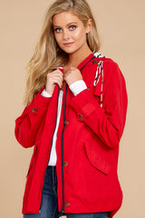 5 Feeling Chilly Red Jacket at reddressboutique.com
