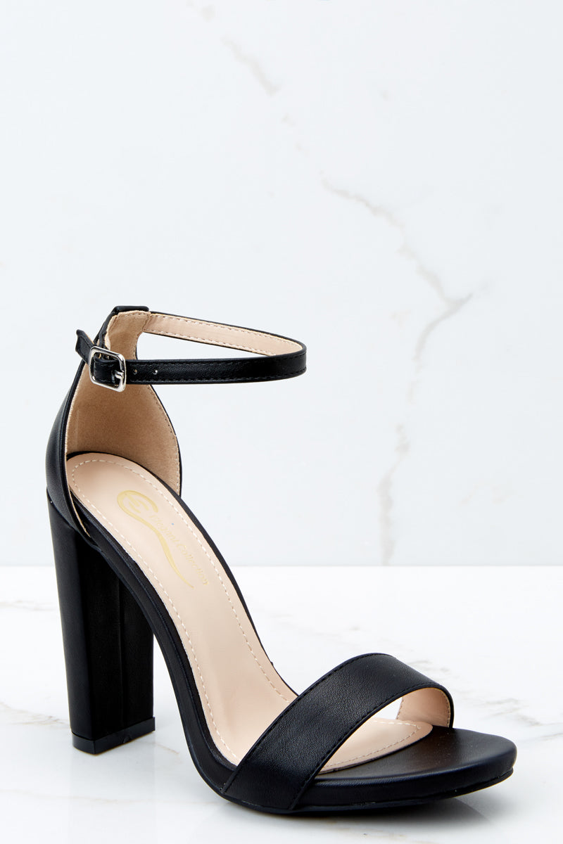 Needing It More Black Ankle Strap Heels
