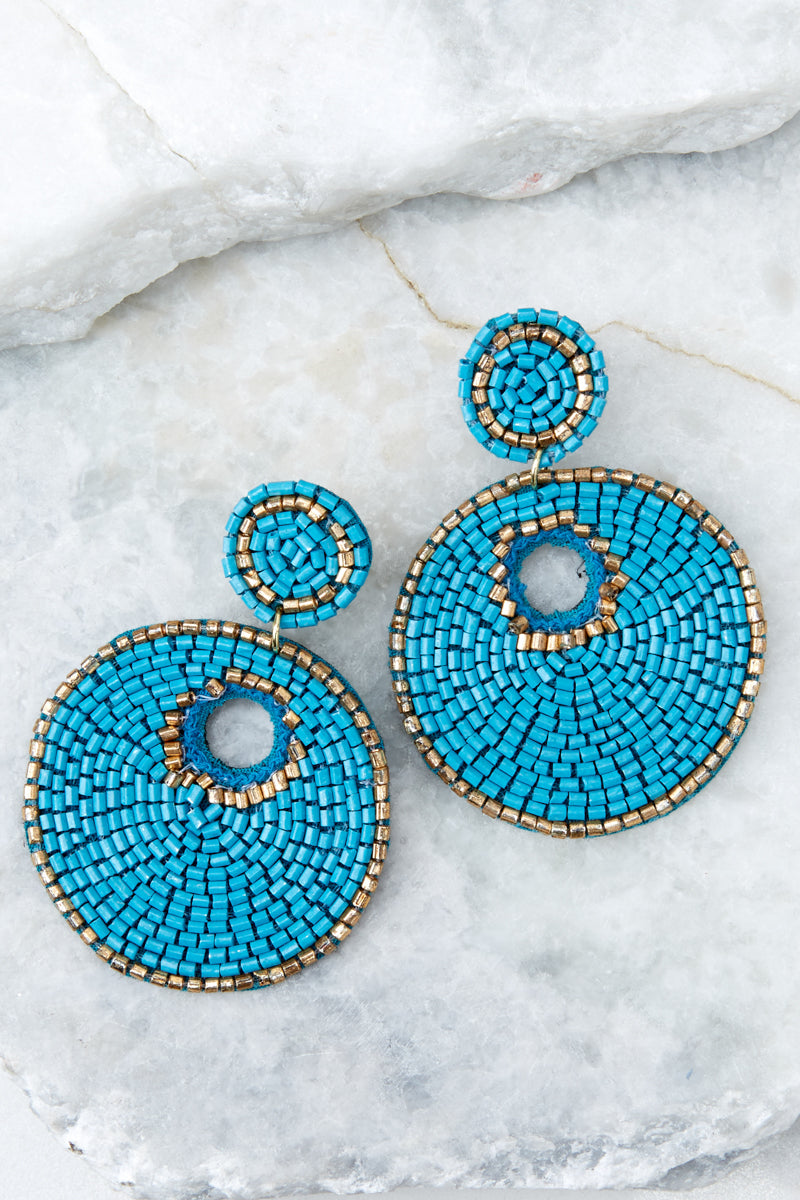 Simply Find It Turquoise Statement Earrings