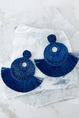 Greatest Ever Blue Statement Earrings