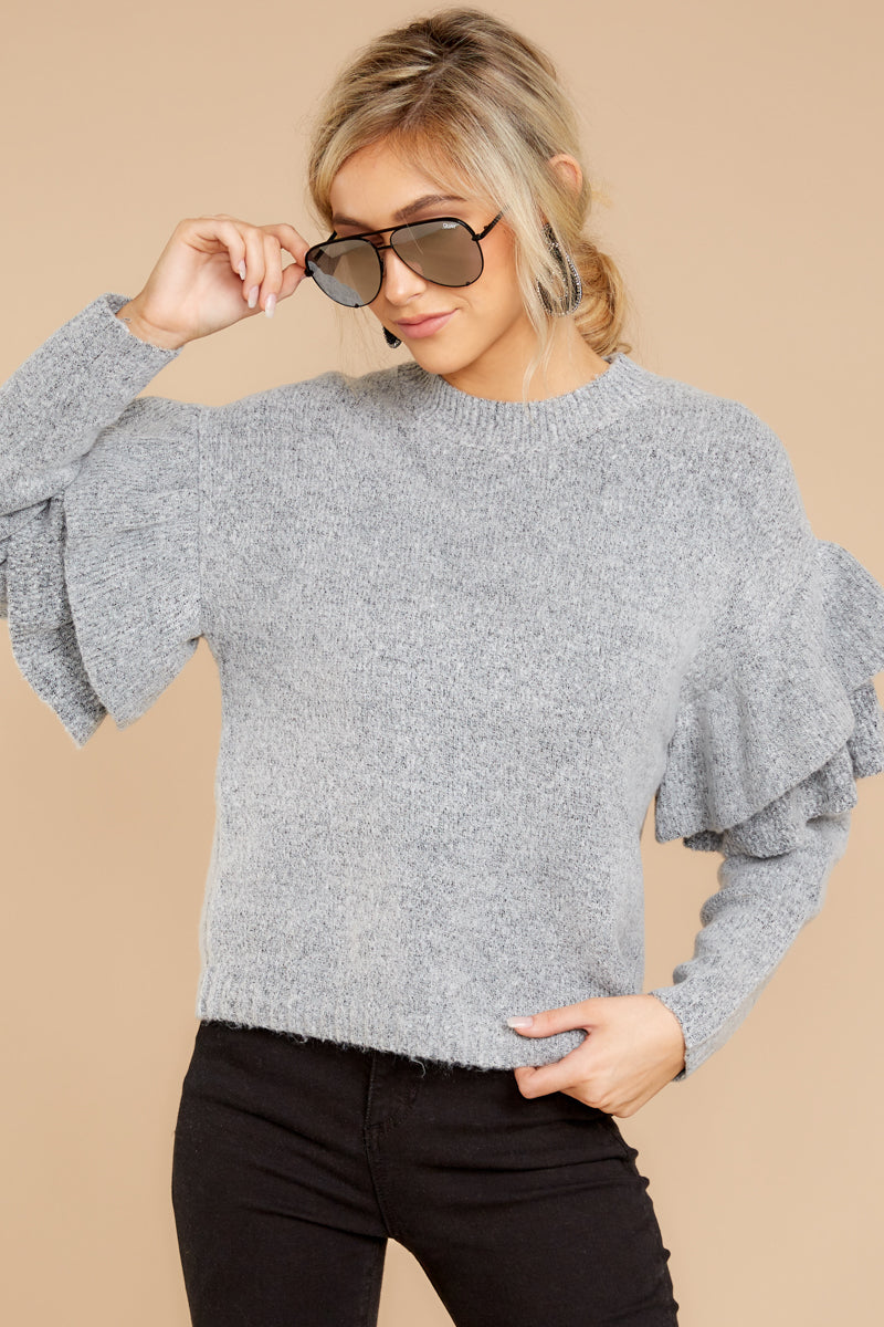 Feel The Change Grey Sweater